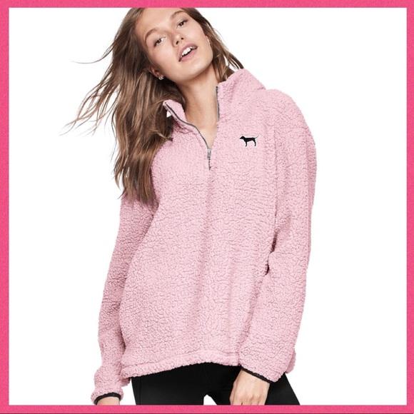 78329ed394b90 •Victoria's Secret PINK• Sherpa Quarter Zip Boutique